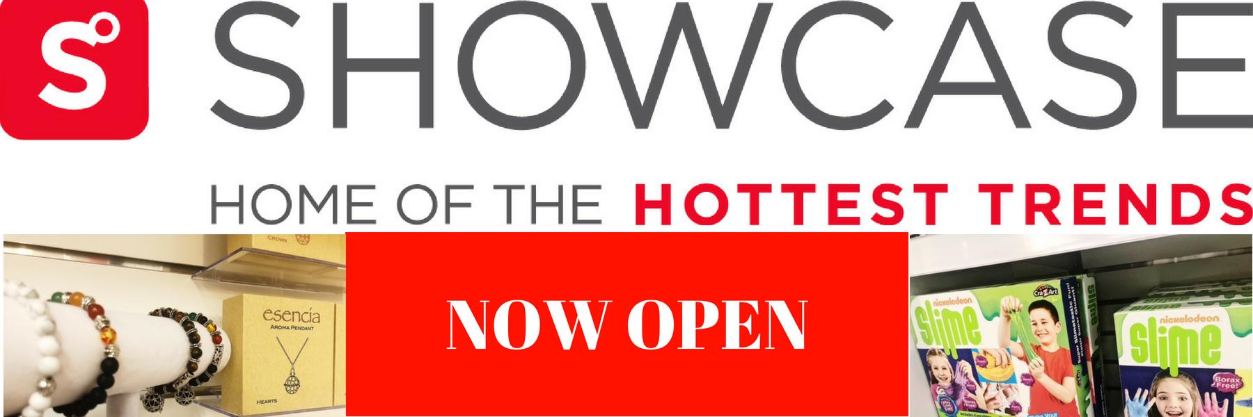 Showcase NOW OPEN_website header