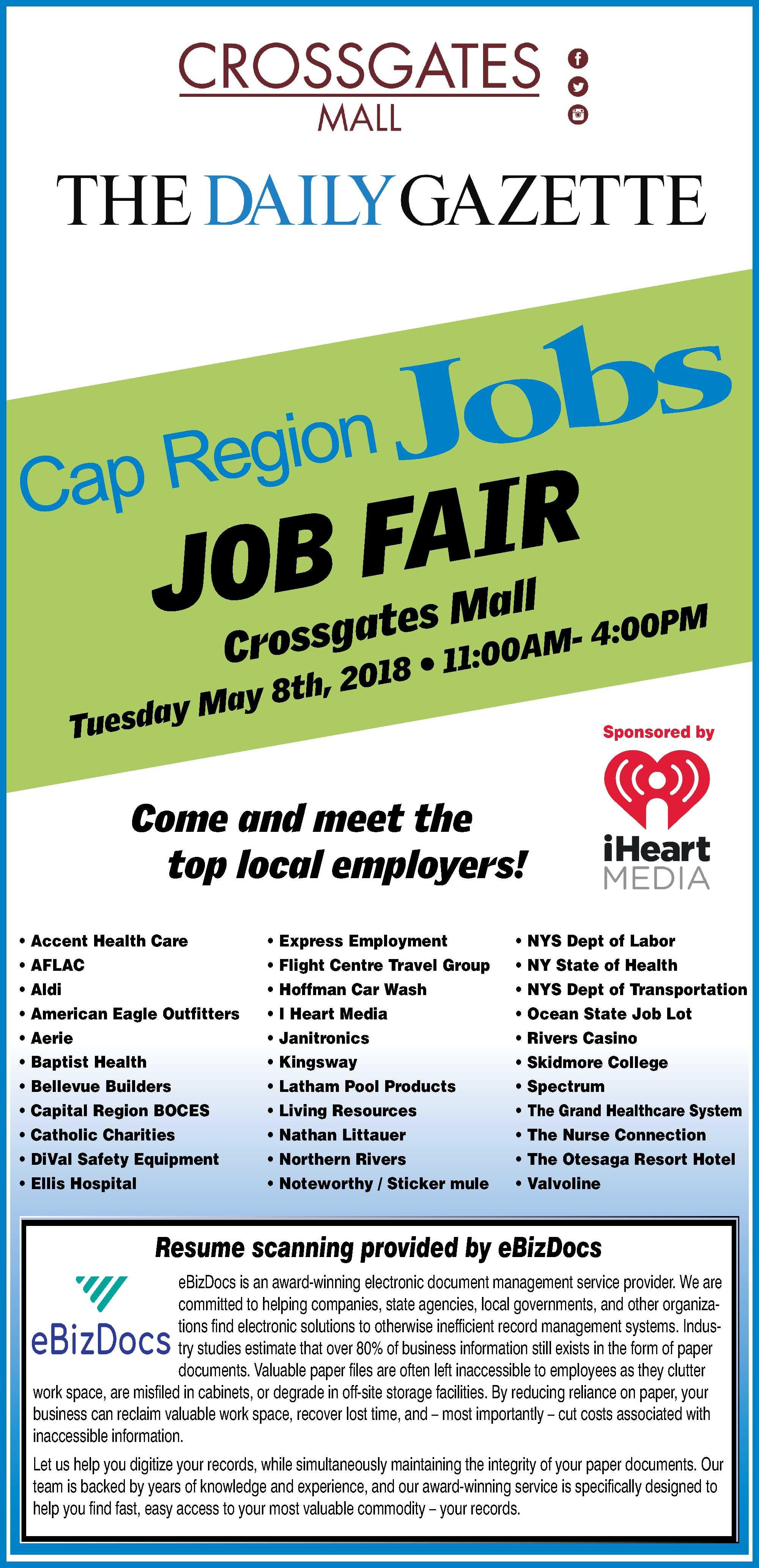 The Capregion Job Fair At Crossgates Mall Crossgates Mall