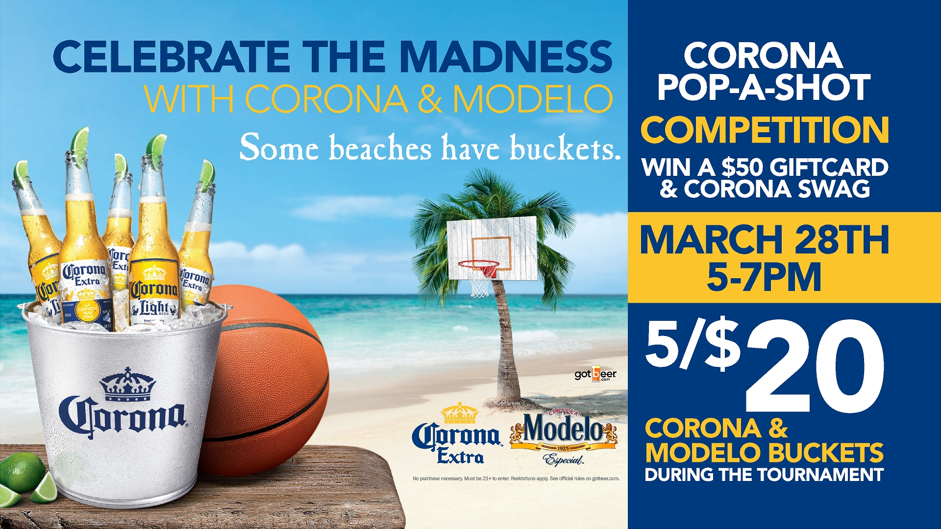 lucky strike corona modelo basketball promo