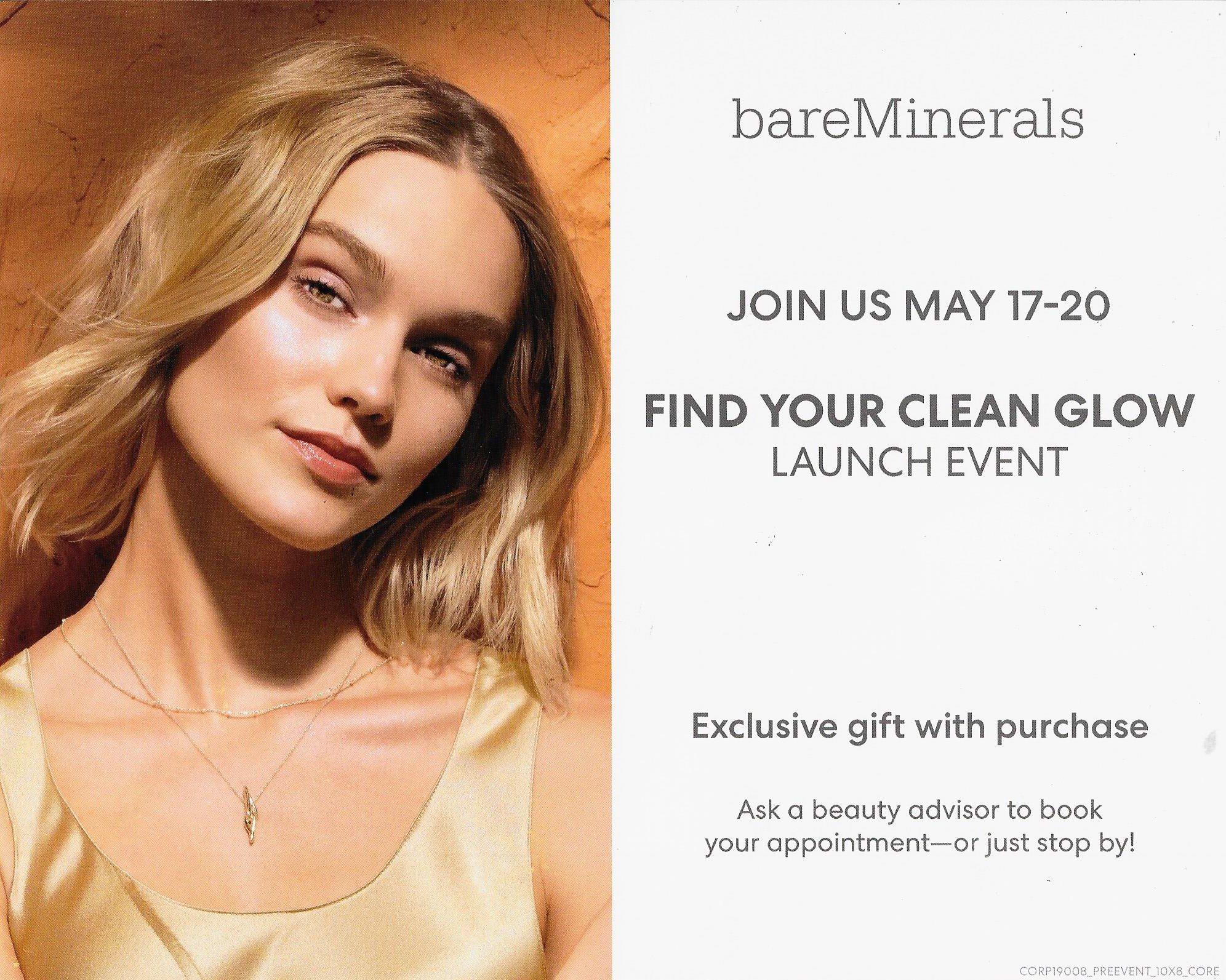 bare minerals May Clean Glow Event