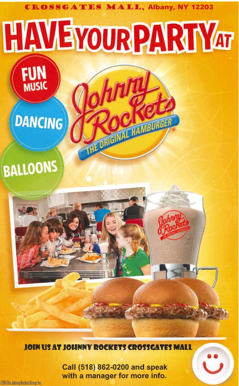 Johnny Rockets Kids Party