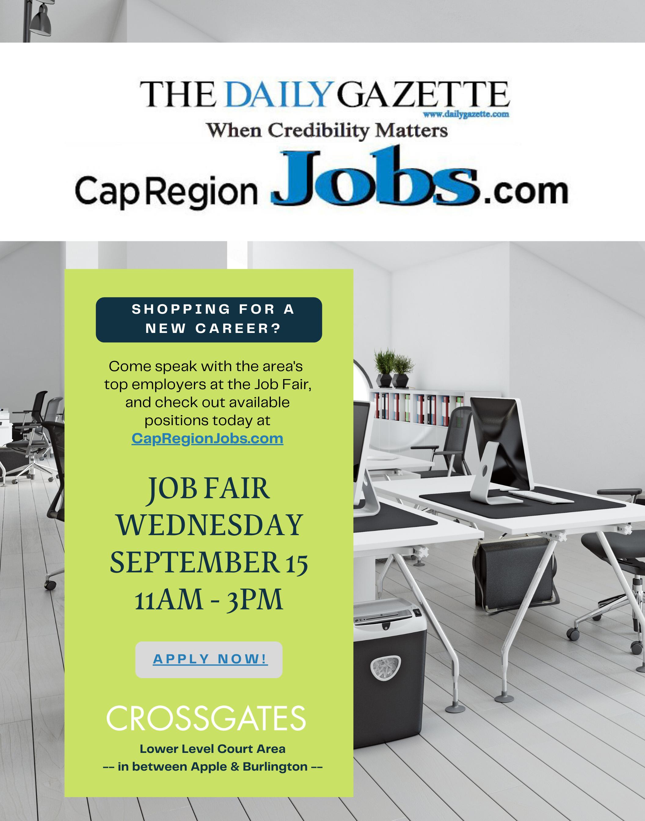 Daily Gazette Job Fair 9.15.21 22x28