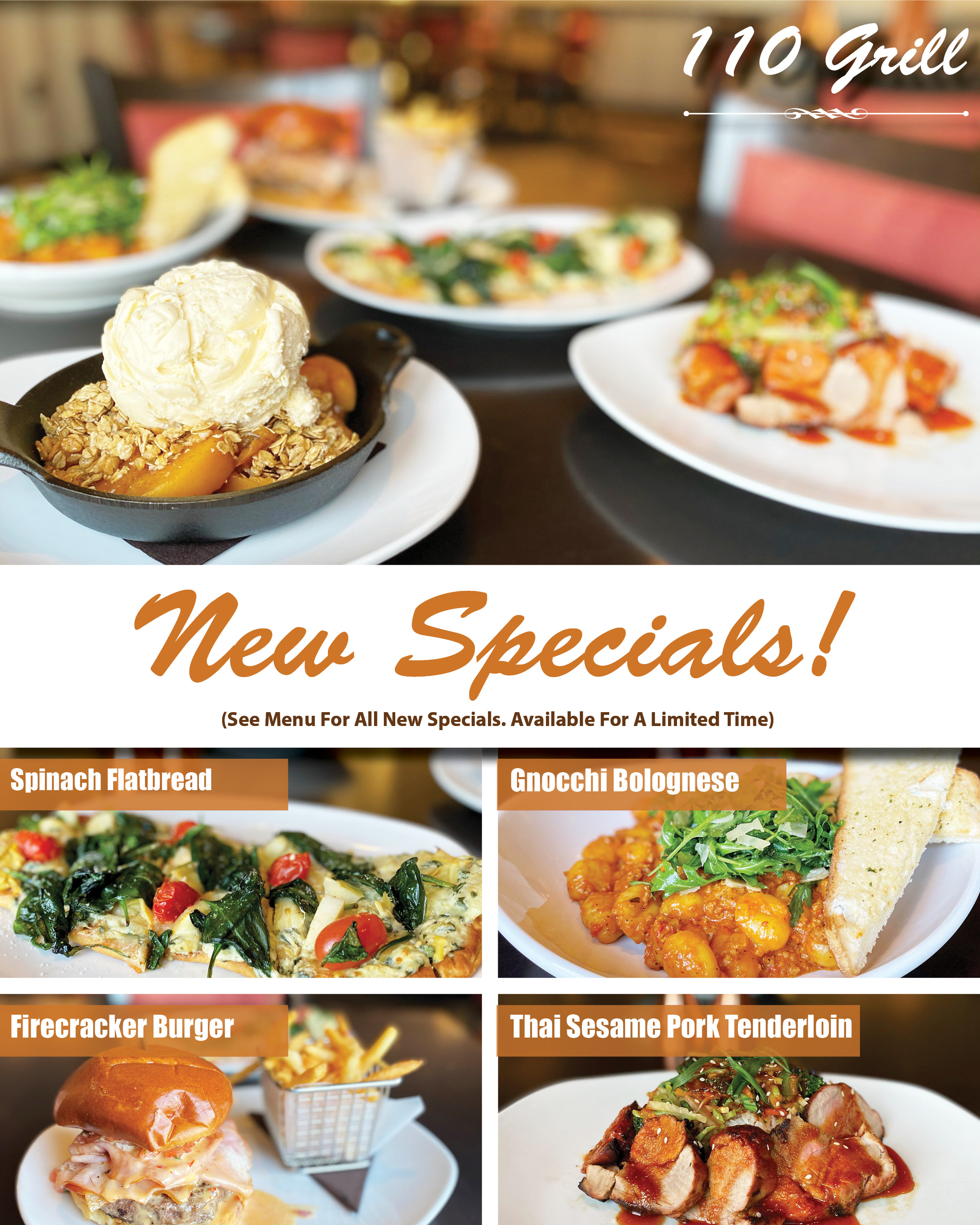 110 Grill winter 2020 new specials 2