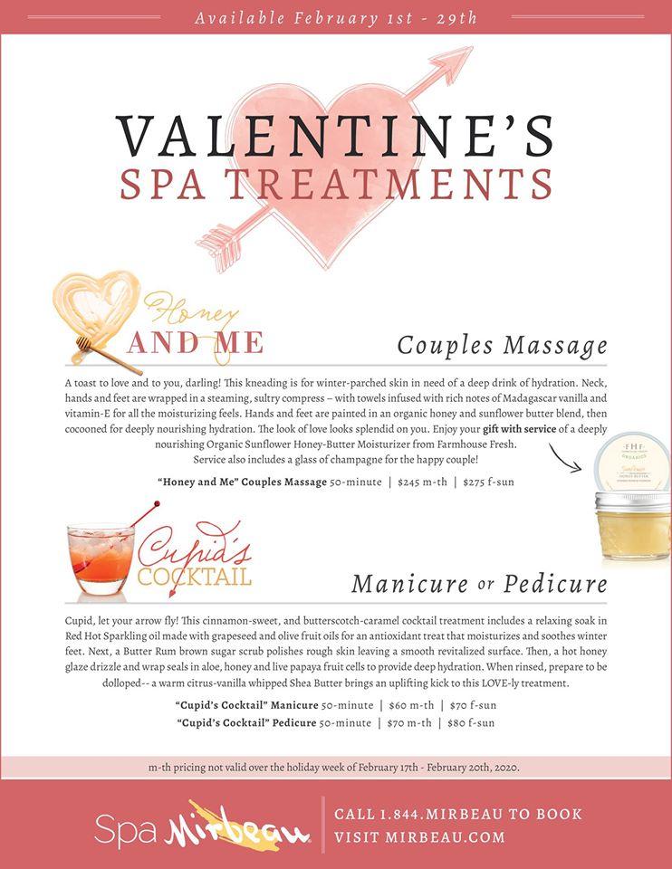 Spa Mirbeau February Spa Treatments