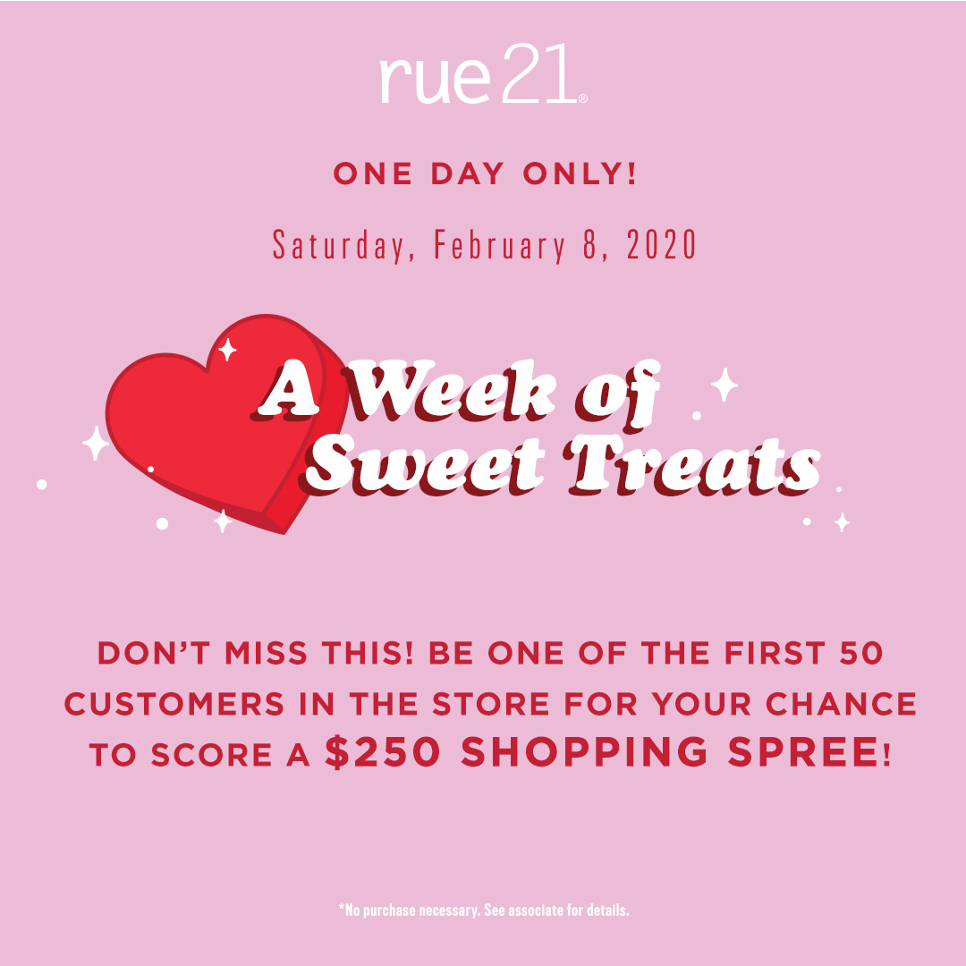 rue 21 sweettreats giftcard