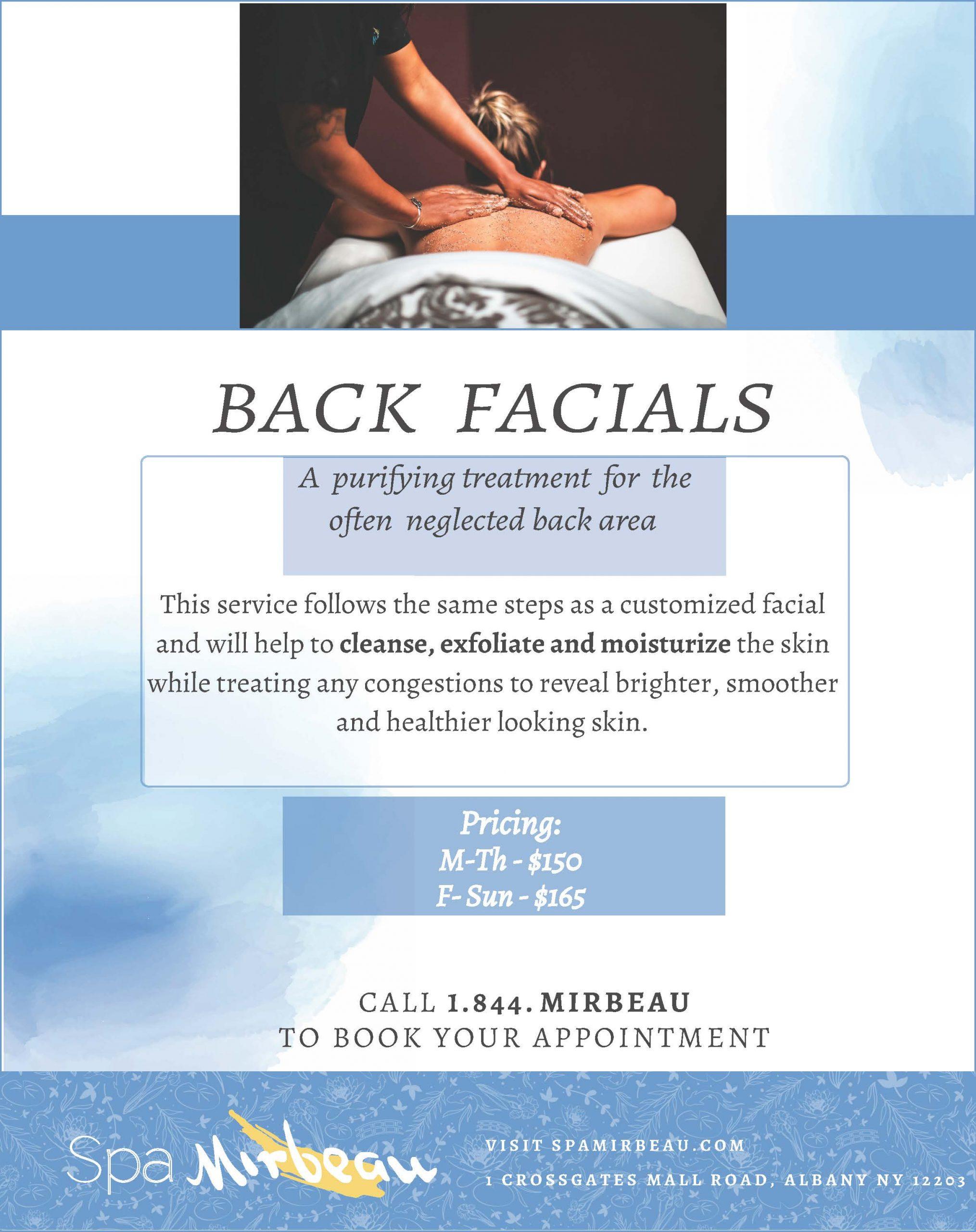 Back Facials Albany V1