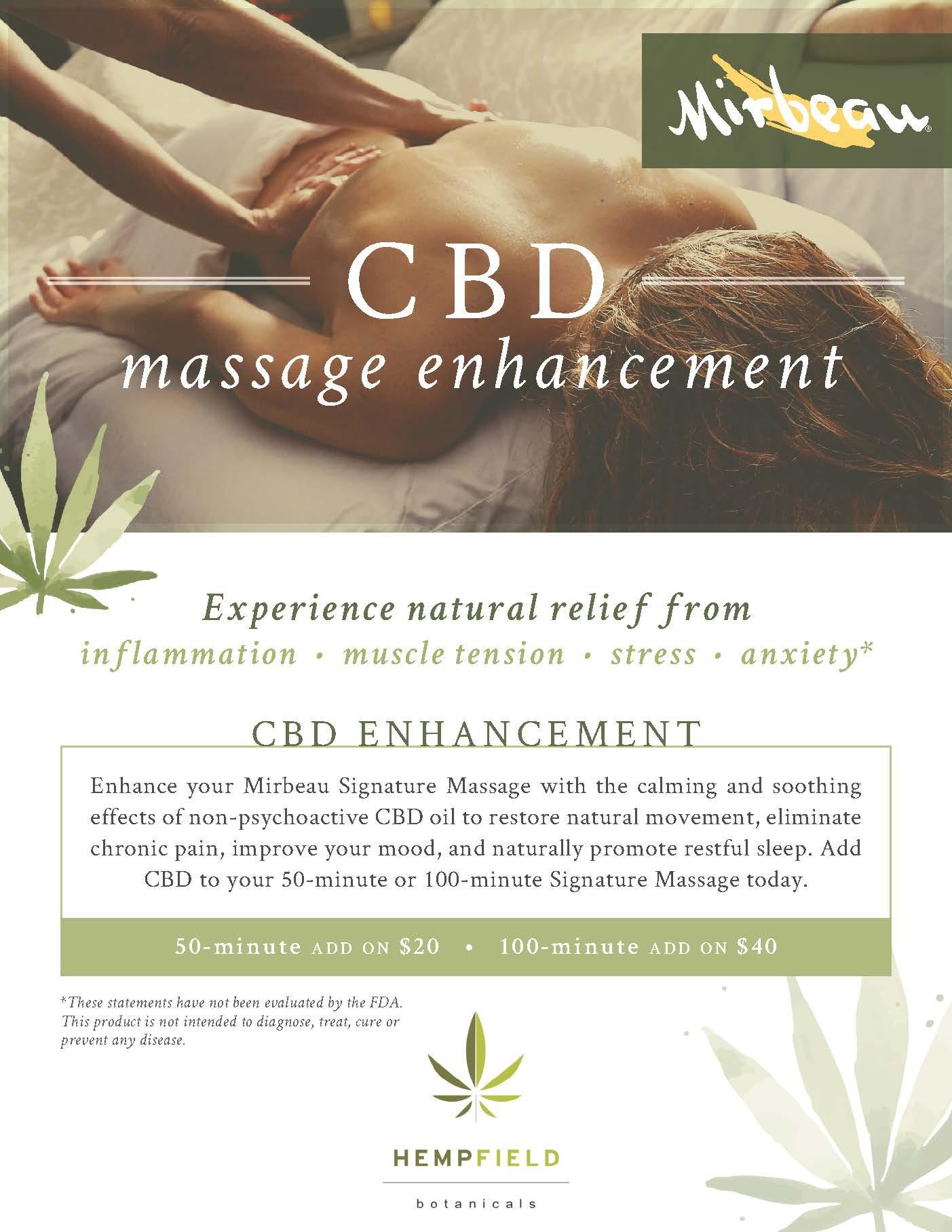 CBD Enhancement Promo Flyer