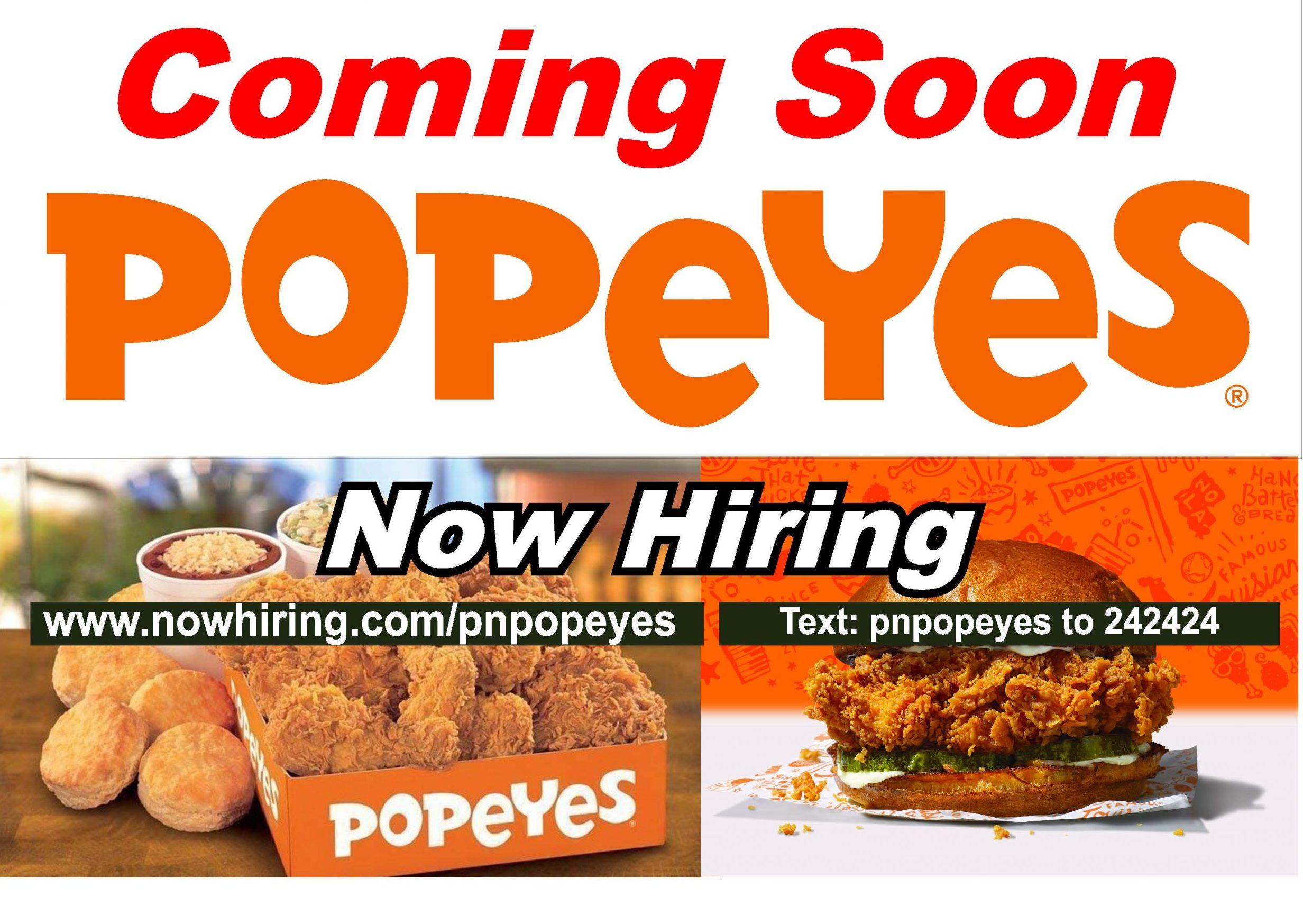 Popeyes banner