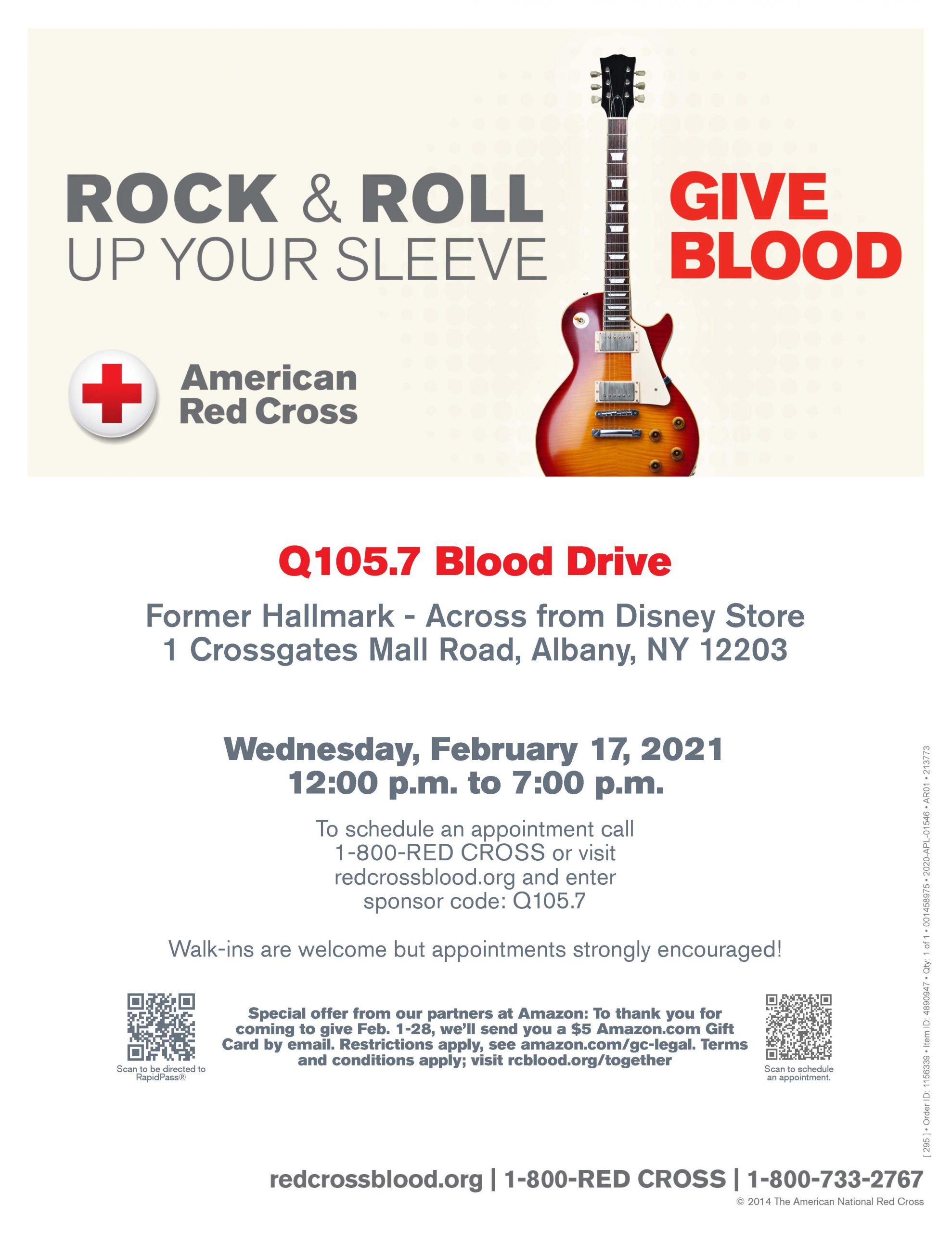 Q105.7 Blood Drive Feb 2021