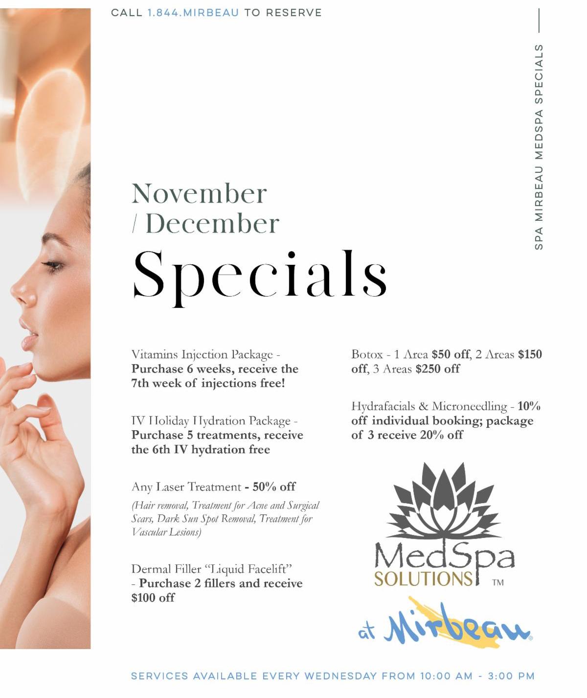 MedSpa SpecialsFlyer November December jpg