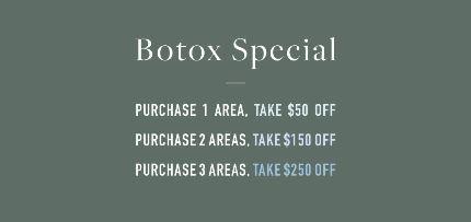 MedSpa botox special