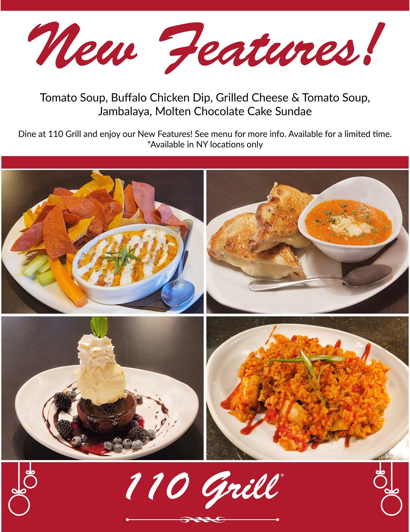 110 Grill December Specials