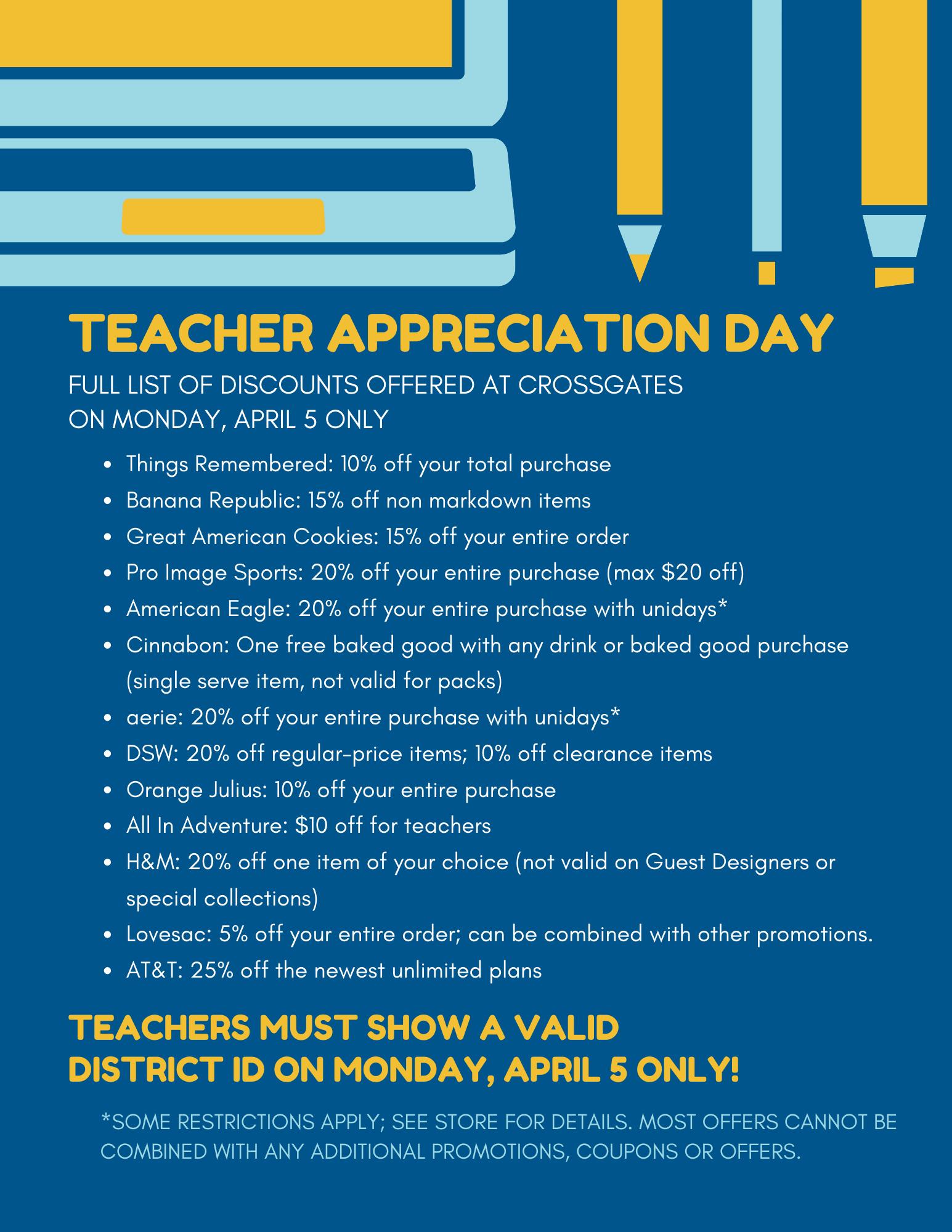 Teachers Appreciation Day Crossgates