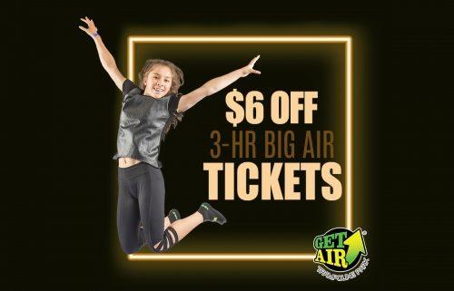 Get Air 6 Off Ticket