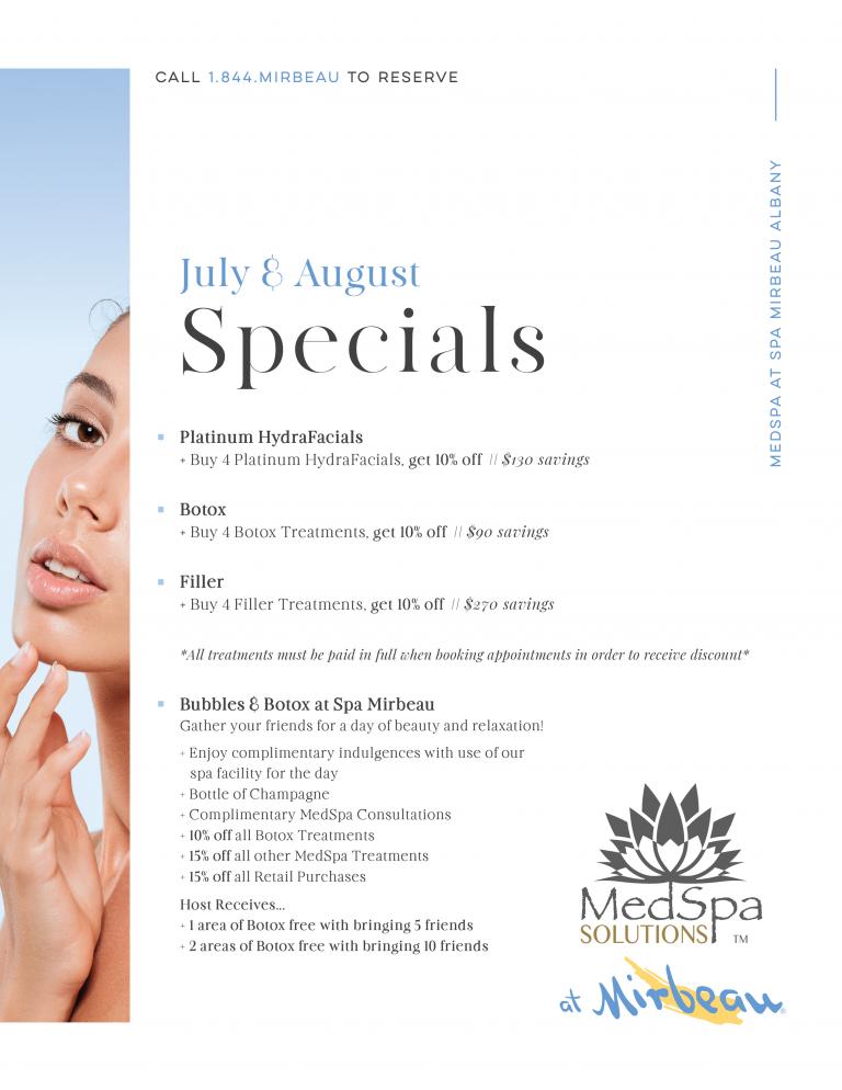 MedSpa July August Specials