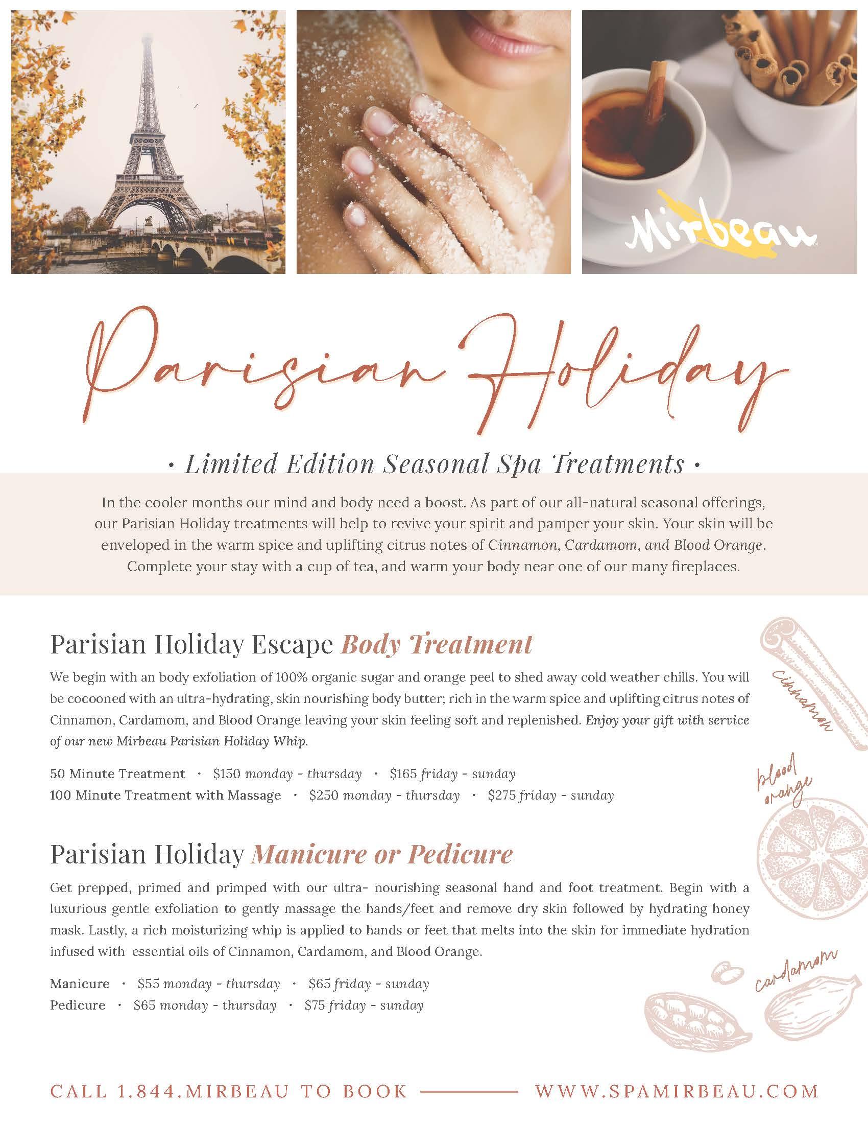 ALB Parisian Holiday Spa Treatments 8.5x11