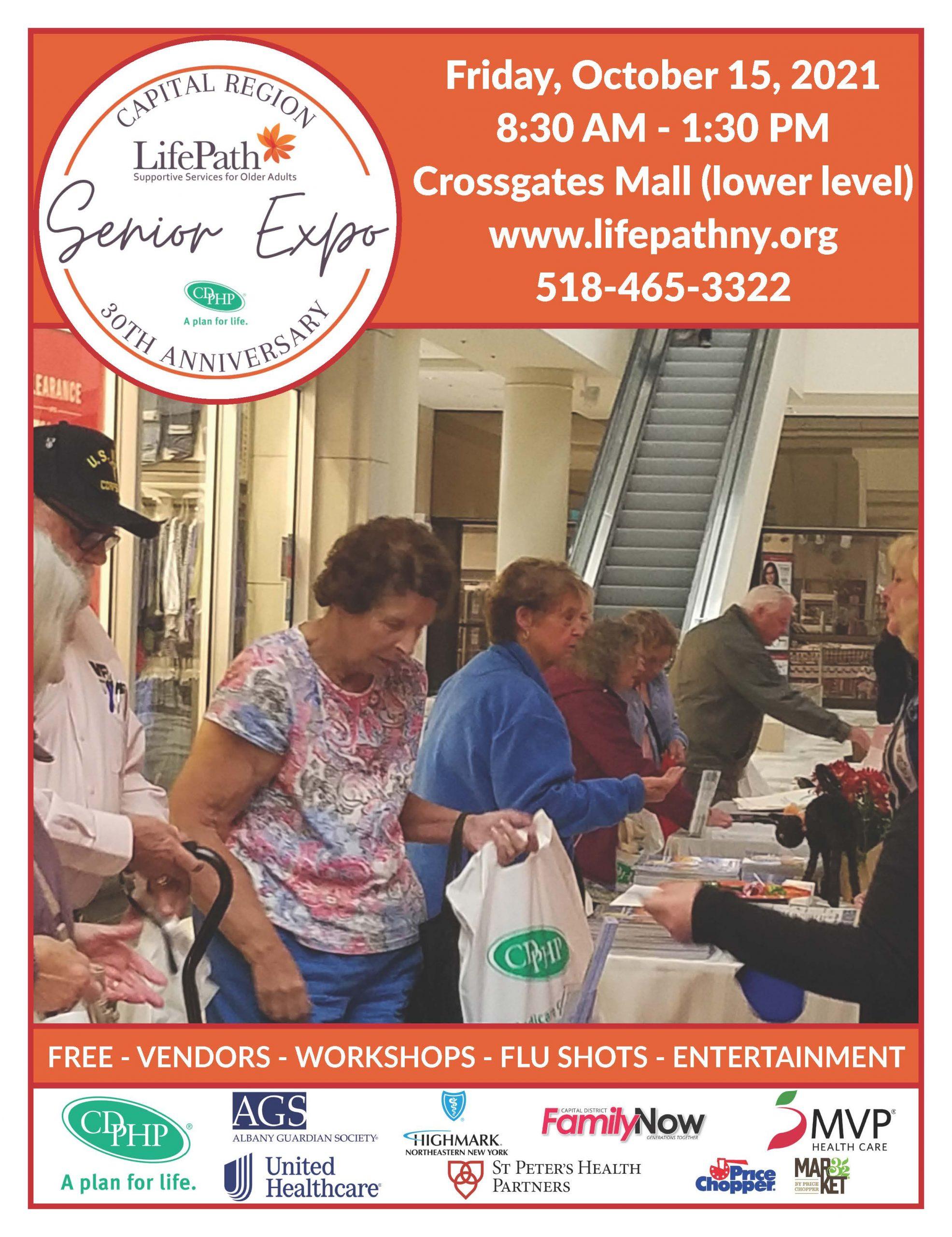 2021 Capital Region Senior Expo Crossgates Flyer